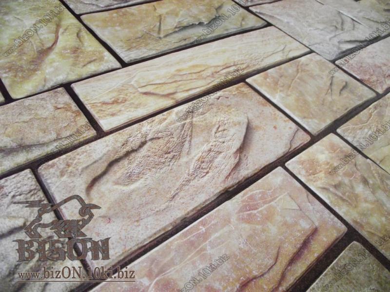 Фото Листовые панели ПВХ Камень «ПИЛЕНЫЙ НАСТОЯЩИЙ ЖЕЛТЫЙ»   Листовые панели ПВХ