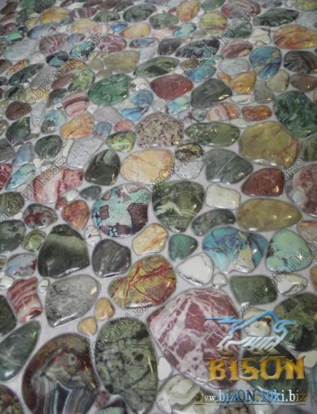 Фото Листовые панели ПВХ Камень «ГАЛЬКА ЗЕЛЕНАЯ»   Листовые панели ПВХ