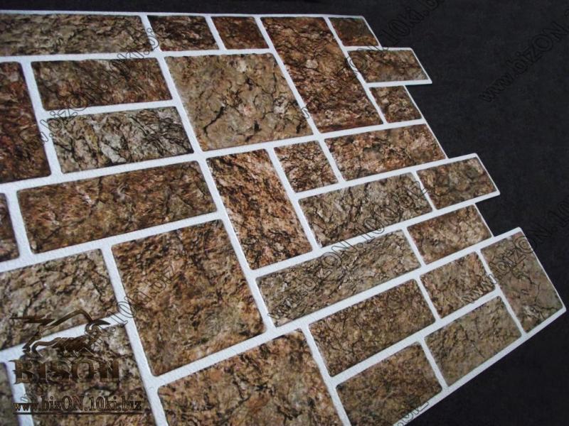 Камень «ПИЛЕНЫЙ КОРИЧНЕВЫЙ»   Листовые панели ПВХ