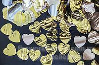 Фото Конфетти хлопушки, Конфетти на вес конфетти-метафан сердца 2 кг