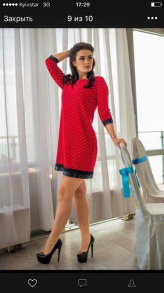 Платье женское в горох в расцветках 8782