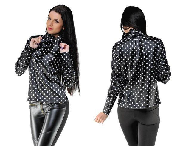 Блуза женская атласная в расцветках 8544