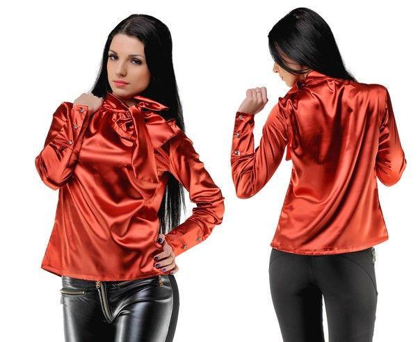 Блуза женская атласная в расцветках 8543