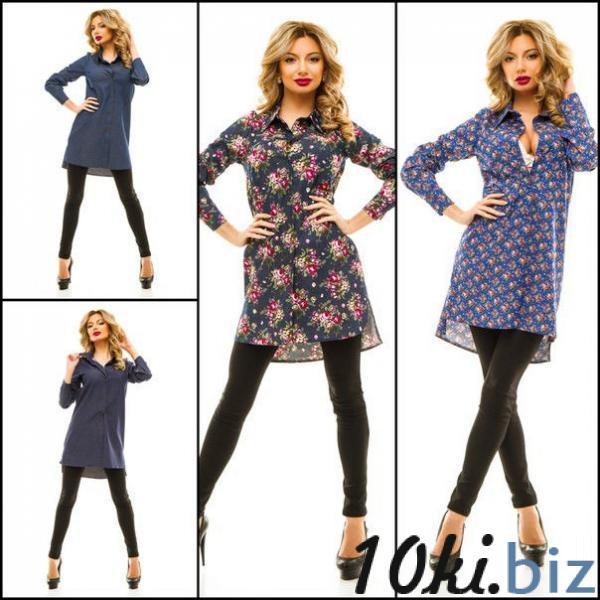 Платье туника женское джинсовое в расцветках 8397 - Блузки и туники женские в магазине Одессы