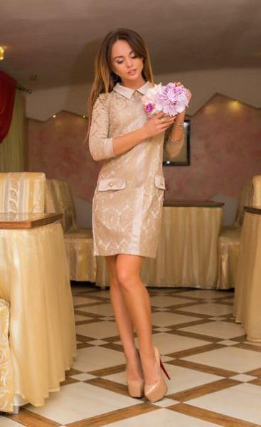 Платье женское нарядное гипюровое в расцветках 6911