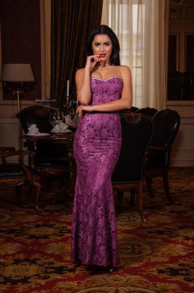 Платье женское вечернее длинное декольте 7956