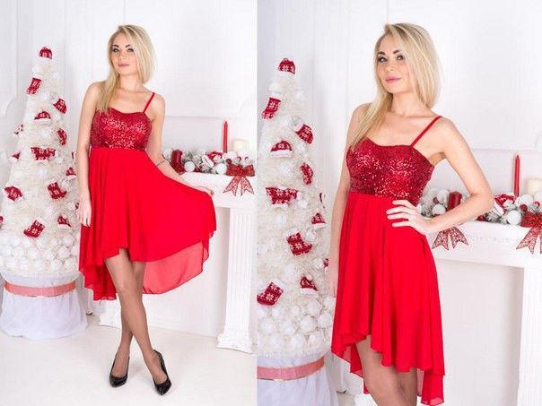 Платье женское нарядное с пайетками в расцветках 7537