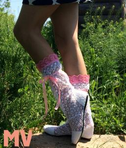 Фото Обувь Украина - производство 3-7 дней, Сапожки, ботиночки тканевые САПОЖКИ АЖУРНЫЕ АРТ С1-197