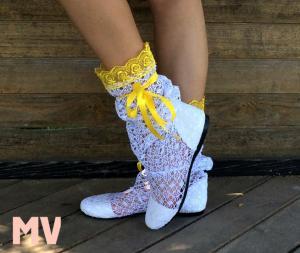 Фото Обувь Украина - производство 3-7 дней, Сапожки, ботиночки тканевые САПОЖКИ АЖУРНЫЕ АРТ С1-198