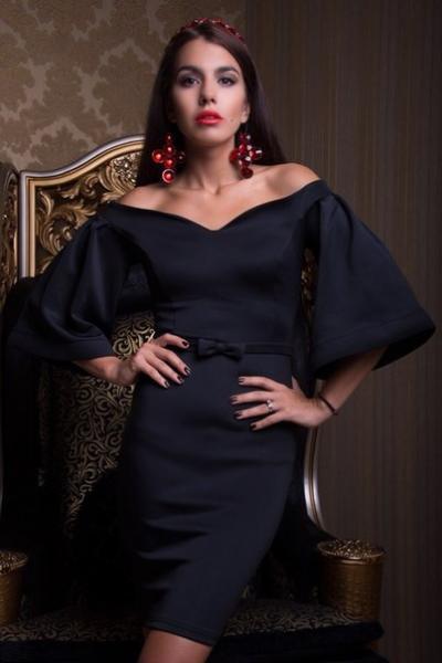 8d419030fea Вечернее платье с пышными рукавами