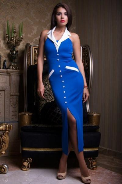 Вечернее платье с воротничком
