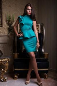 Фото Платья, Вечерние платья Вечернее платье с баской