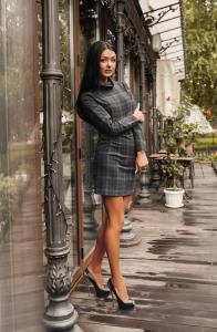 Фото Платья, Офисные платья Платье в клетку