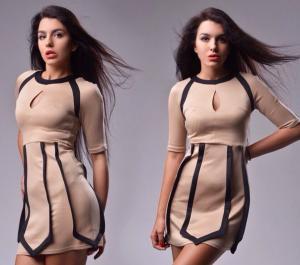 Фото Платья, Офисные платья Женское платье с вырезом