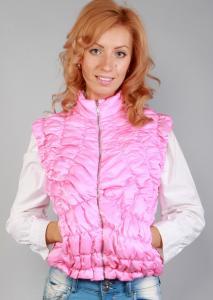 Фото Жилетки Женская стеганая розовая жилетка