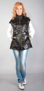 Фото Жилетки Черная стеганая жилетка больших размеров