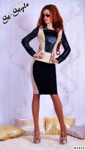 Фото Куртки, Куртки из кожзама/джинса Куртка женская из кожзама