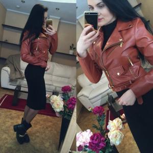 Фото Куртки, Куртки из кожзама/джинса Куртка из кожзама на весну 3 цветов