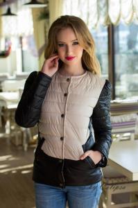 Фото Куртки, Куртки из кожзама/джинса Куртка молодежная стеганая