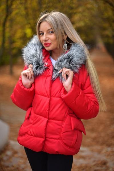 Зимняя куртка-пуховик с мехом 6 цветов