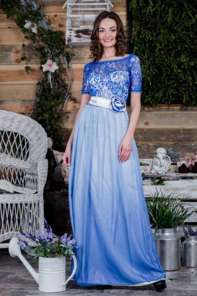 Длинное нарядное платье 5092