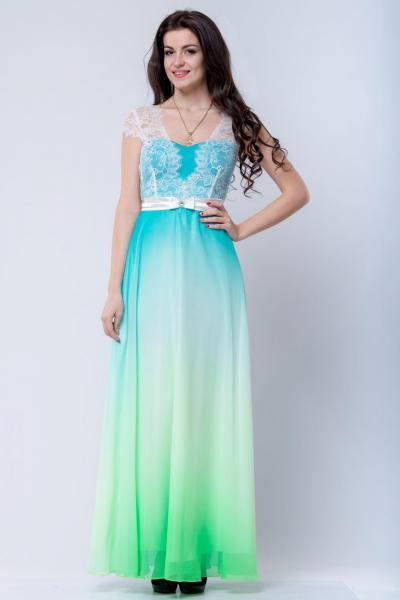 Длинно нарядное платье 6018