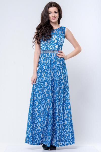 Длинно нарядное платье 6023