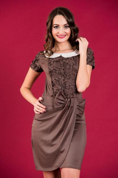 Короткое нарядное платье 3031