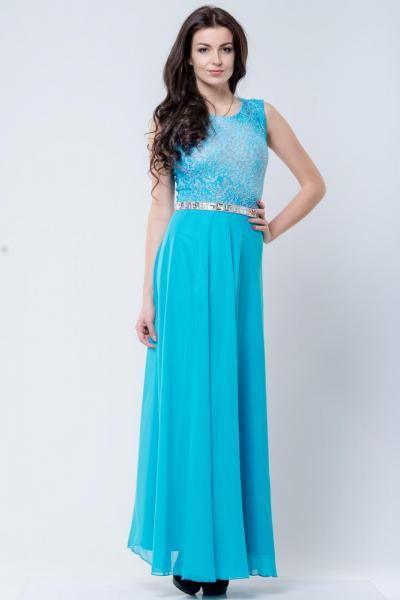 Длинно нарядное платье 6007