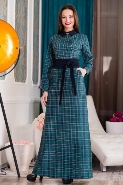 Длинное теплое платье № 4316