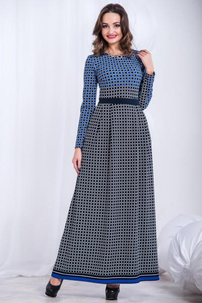 Длинное теплое платье 5302