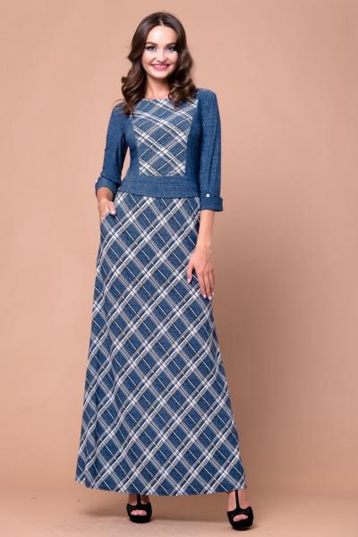 Длинное теплое платье 5212