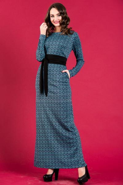 Длинное теплое платье 5253
