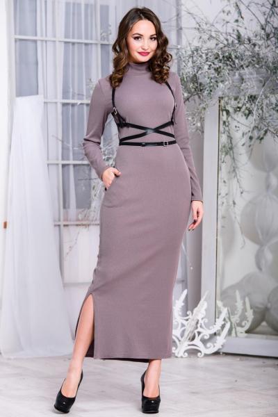 Повседневное длинное платье 5262