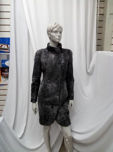"""Пальто из каракульчи, модель """"Тюльпан"""""""