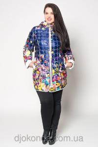 Фото Женская одежда для пышных дам 48+, Куртки женские больших размеров 48+ Стильная куртка с ярким узором Helix