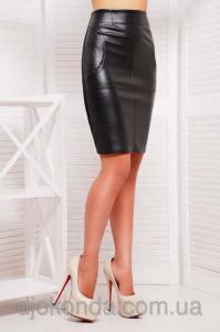Фото Юбки короткие и длинные Модная узкая юбка кожзам