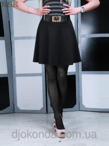 Фото Юбки короткие и длинные Юбка трикотажная черная