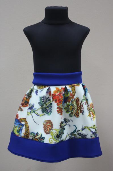 Детская юбка из неопрена синяя р. 98-116