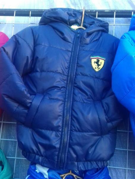 Детская деми куртка на мальчика 2-6 лет феррари темно-синяя