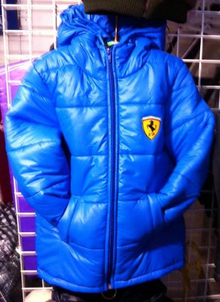 Подростковая демисезонная куртка Феррари электрик 128-146