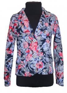 Фото Детские пиджаки, кофты для девочек оптом Синий детский пиджак