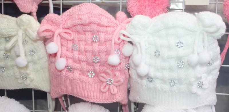 Детская шапочка с ушками от 0 до 2 лет