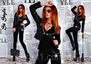 Фото КУРТКИ, Пиджаки, верхняя одежда и др., Куртки женские Куртка. кож.зам ГЛ