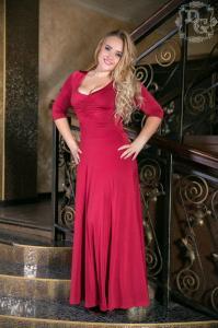 Фото ОДЕЖДА НАЧИНАЯ С 50 РАЗМЕРА, Платья в пол батал Платье 594 Батал (ГЛ)