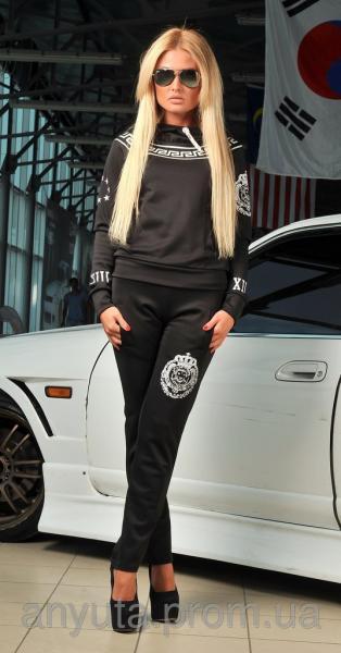 Женский спортивный костюм греция чёрный оптом