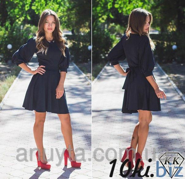 Женское платье мини фонари клёш дайвинг черное оптом - Короткие платья, мини платья в магазине Одессы