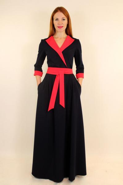 Длинное стильное платье в стиле 80 х годов 44-50 р
