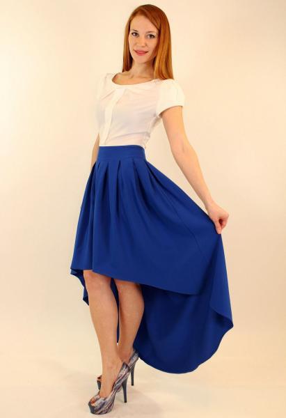 Вечернее летнее платье с хвостом 42-48 ( красный, синий )