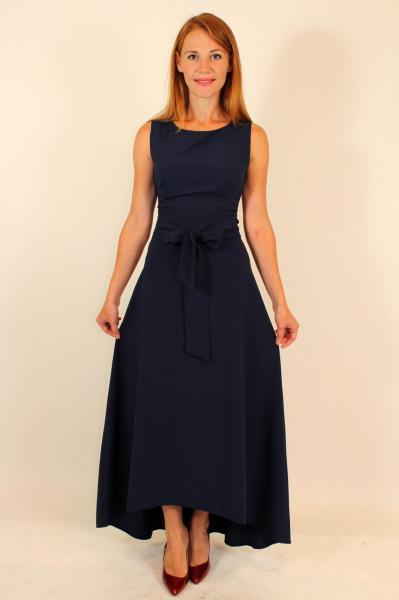 Вечернее платье асимметрия 42-48 р ( темно-синий, бирюза, коралл )